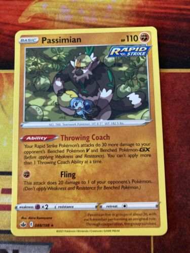 Pokemon : SWSH CHILLING REIGN PASSIMIAN 088/198 RARE-NM