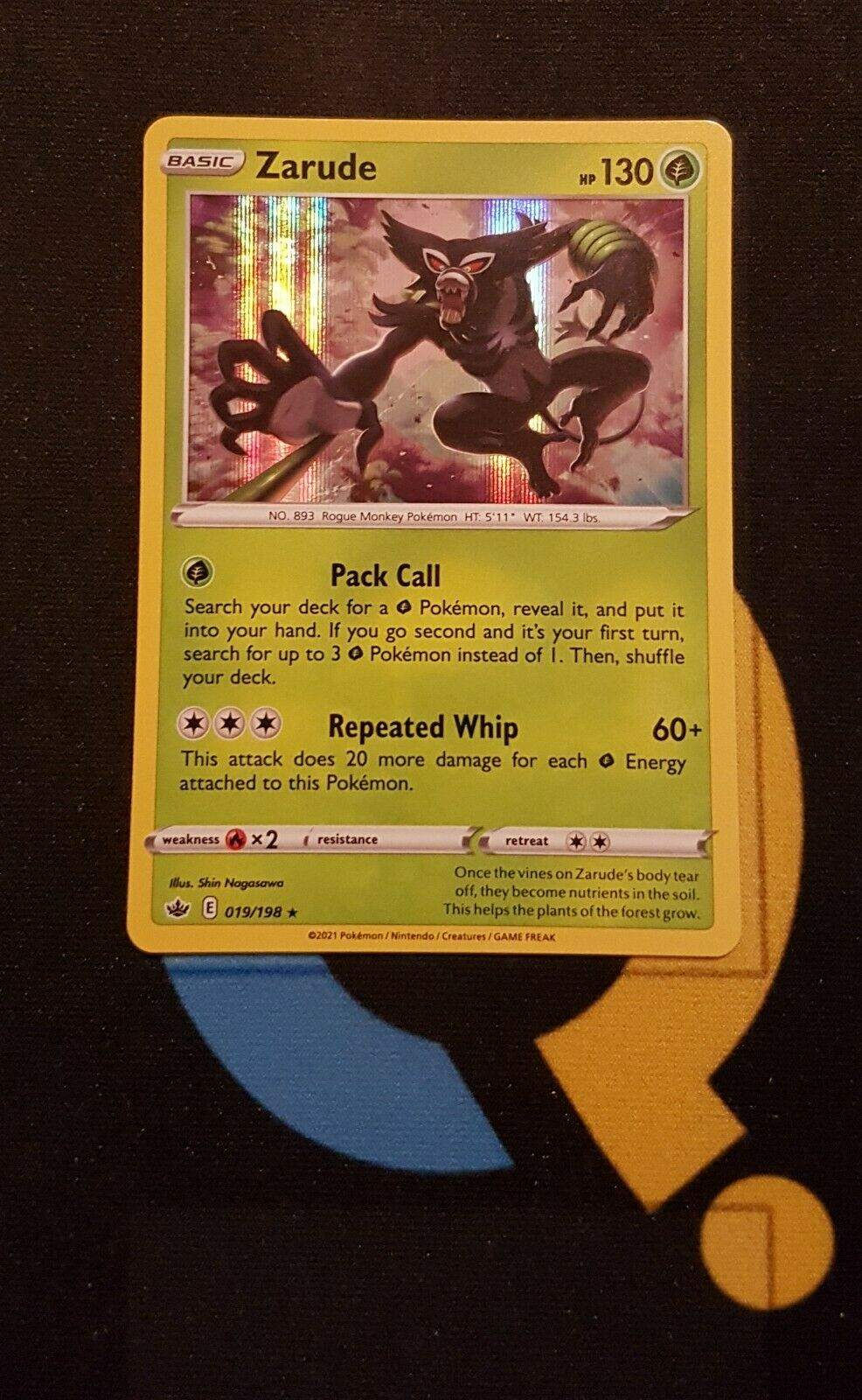 Zarude - 019/198 Chilling Reign - Rare Holo - Pokemon