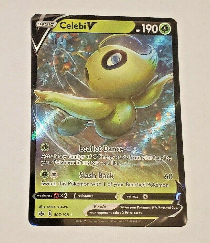 Celebi V 007/198 - Chilling Reign - Ultra Rare Pokemon Card - Near Mint (NM)