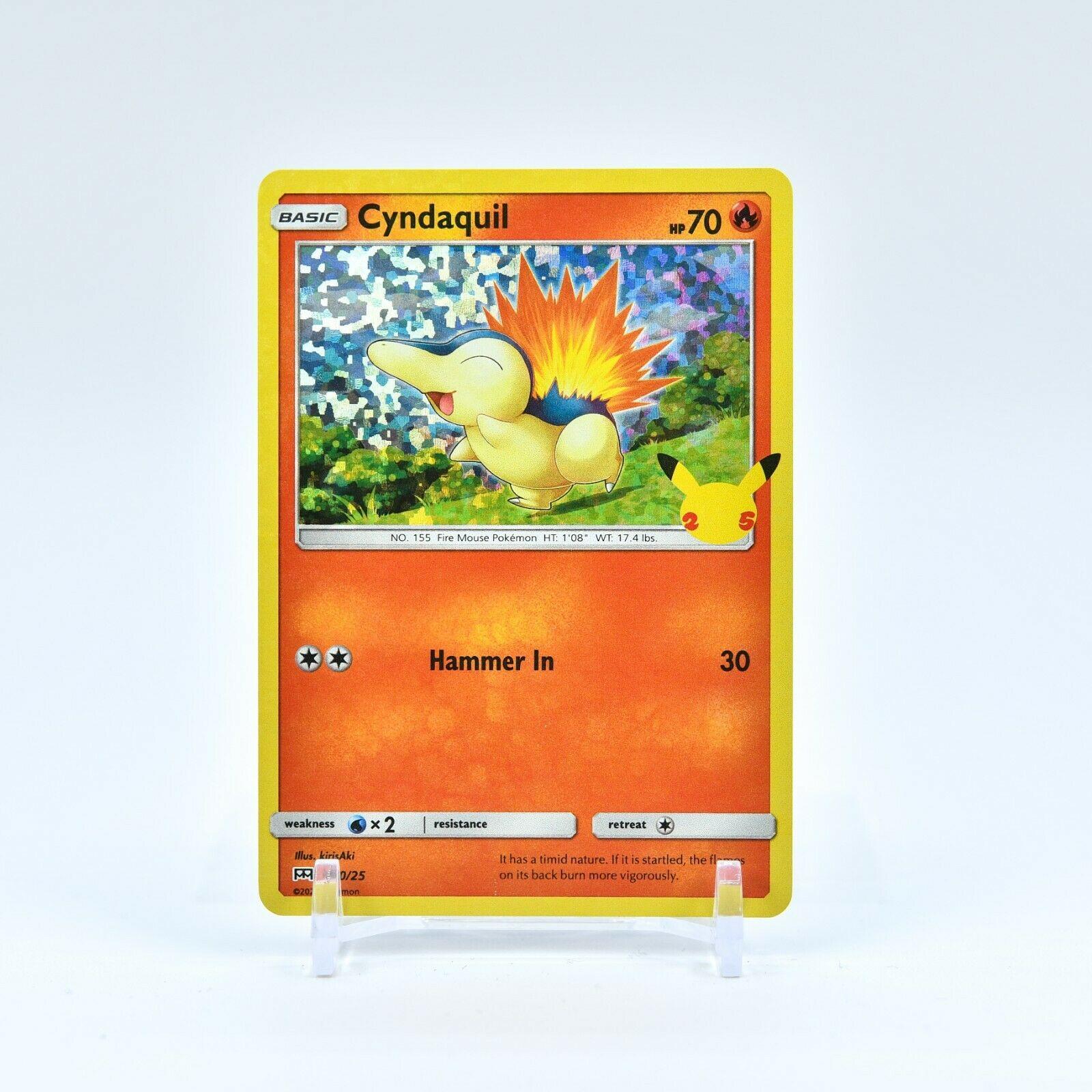 Cyndaquil - 10/25 Mcdonald's 25th Anniversary Holo Starter Pokemon - NM/MINT - Image 1