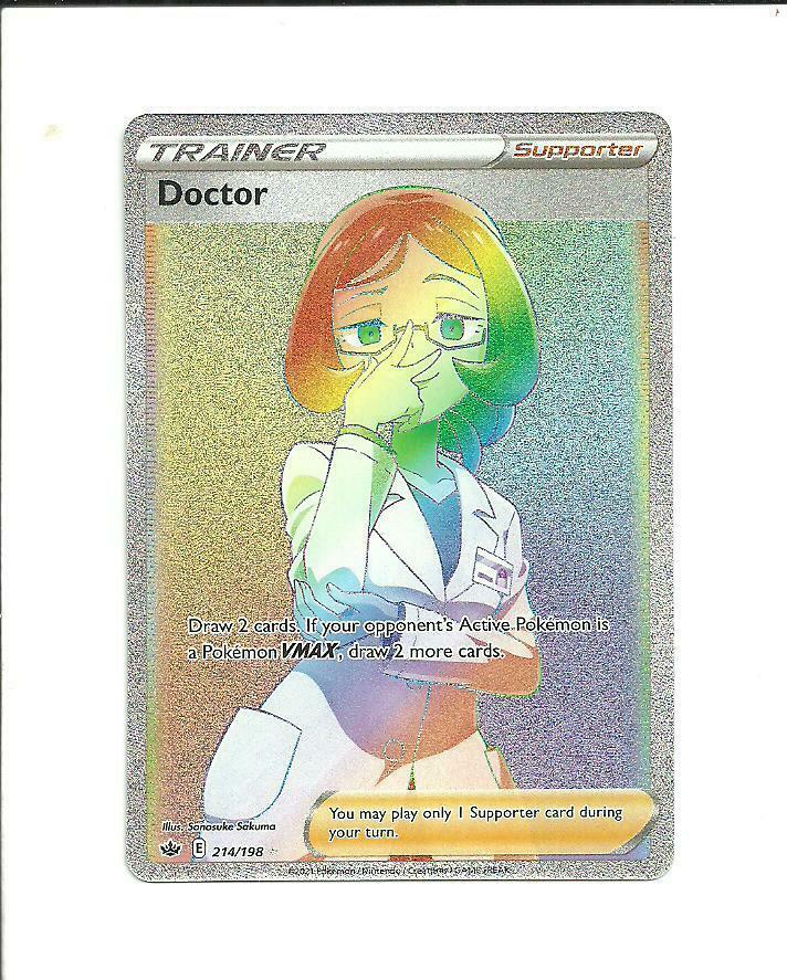 POKEMON CHILLING REIGN Doctor Secret Rare Trainer 214/198,.