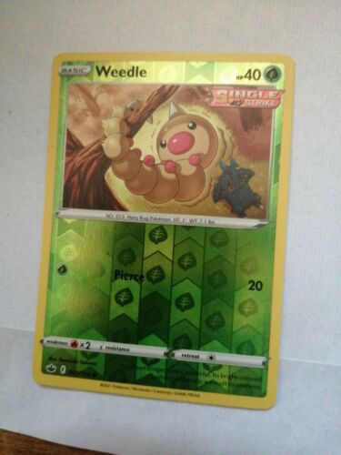 Weedle 001/198 - Reverse Holo Common - Chilling Reign