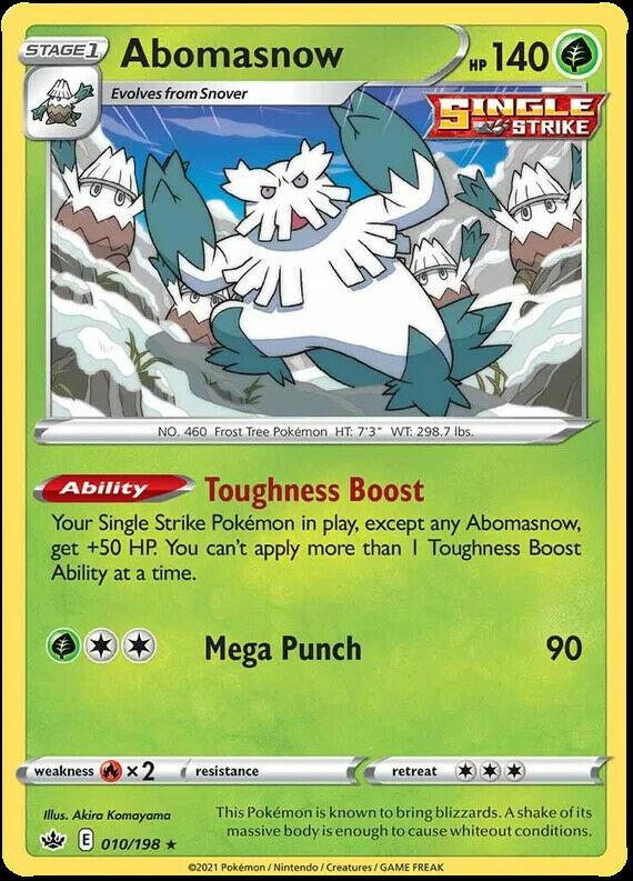 Abomasnow 010/198 SWSH Chilling Reign Pokemon Card MINT