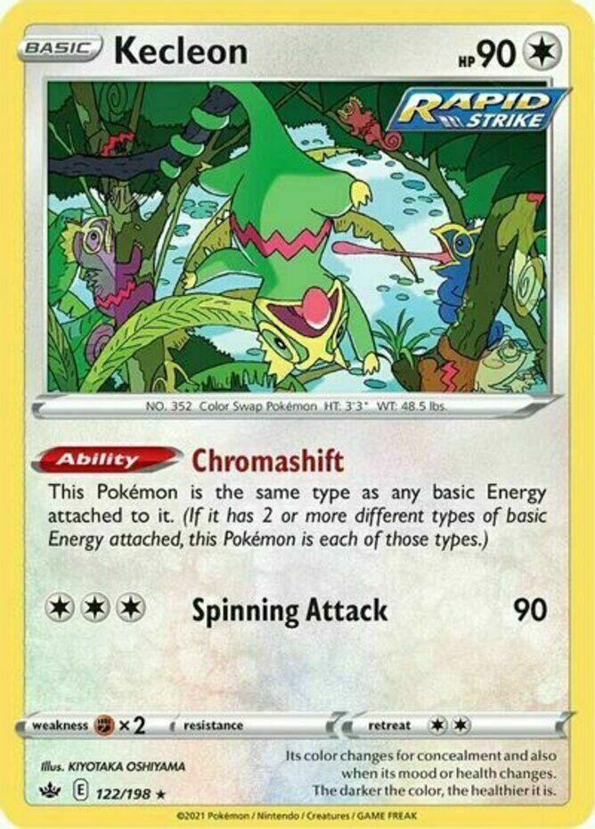 Pokemon - Kecleon - 122/198 - Rare - Chilling Reign - NM/M