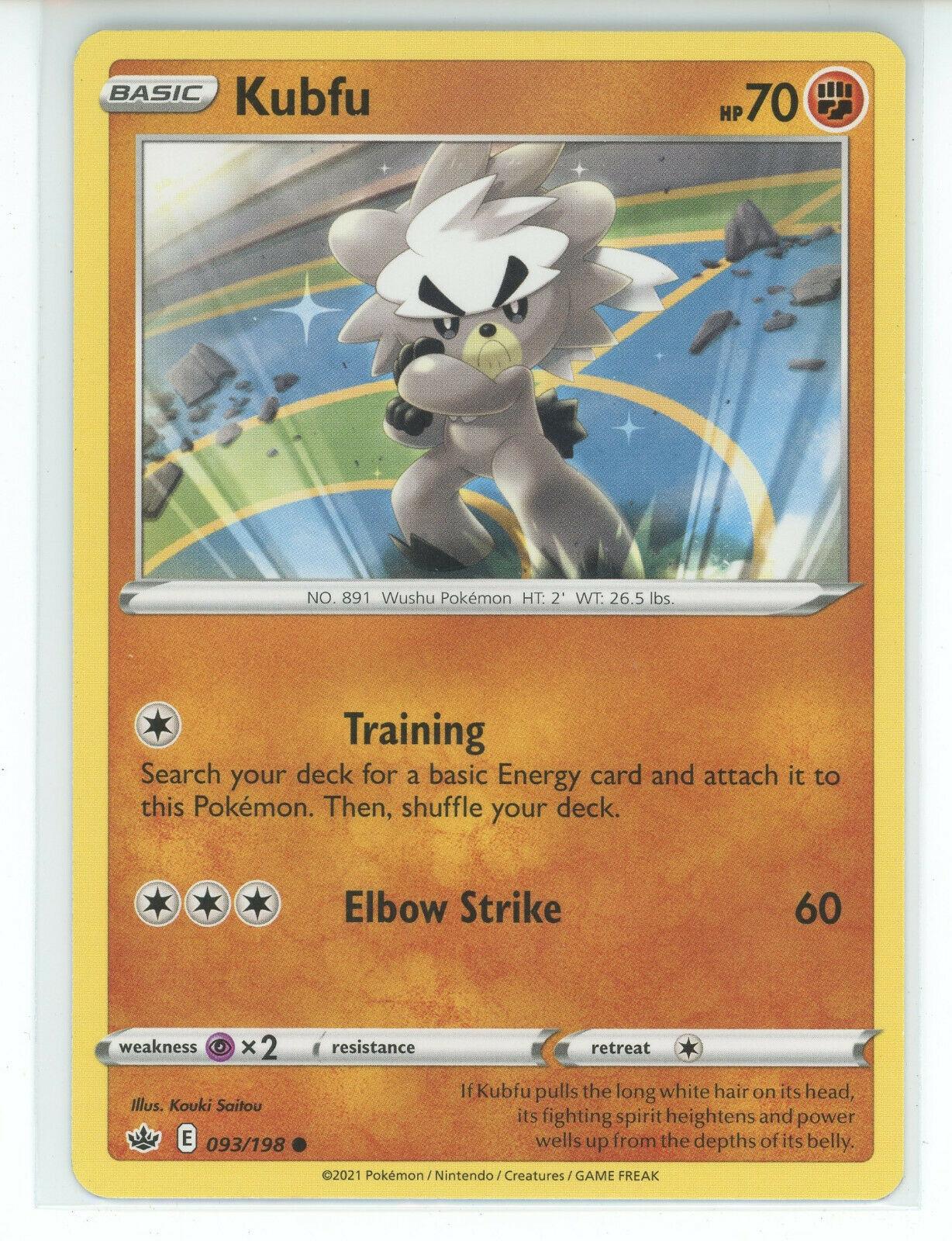 Pokemon 2021 S&S Chilling Reign Kubfu 093/198 Common