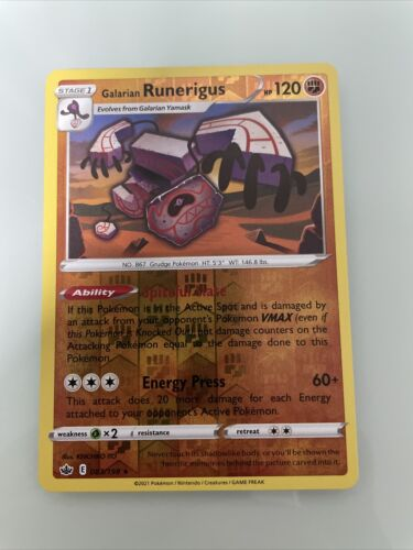 Galarian Runerigus 083/198 Reverse Holo Rare Pokemon Chilling Reign Near Mint NM