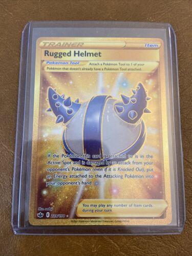 Pokémon - Rugged Helmet - 228/198 - Secret Rare - Chilling Reign - NM/M