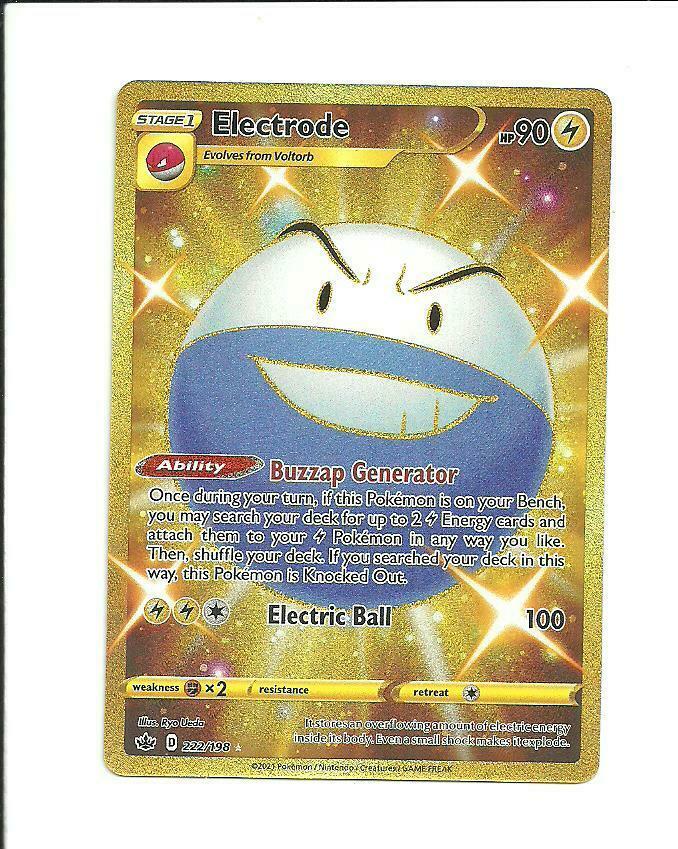 Pokemon : SWSH CHILLING REIGN Electrode 222/198 SECRET RARE