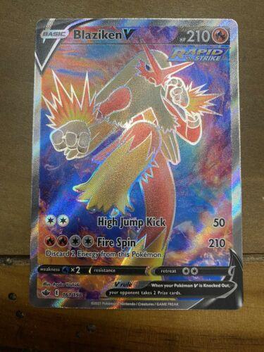 Pokemon Blaziken V 161/198 Full Art Ultra Rare Chilling Reign * In Hand * NM/M