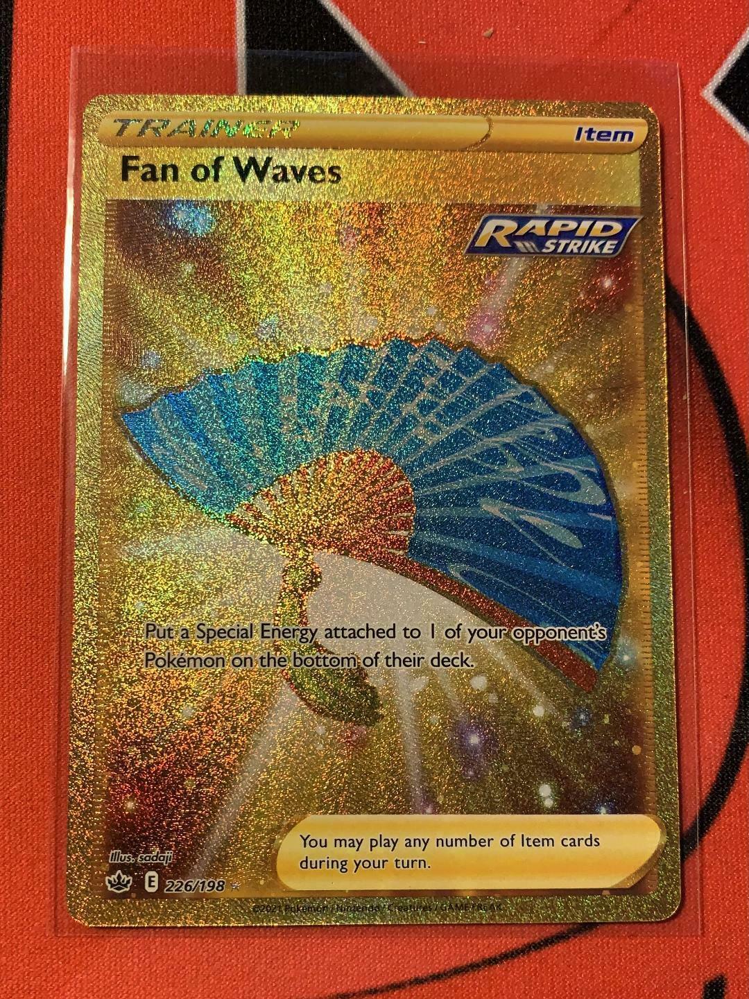 Pokemon Fan of Waves 226/198 Gold Secret Rare Chilling Reign