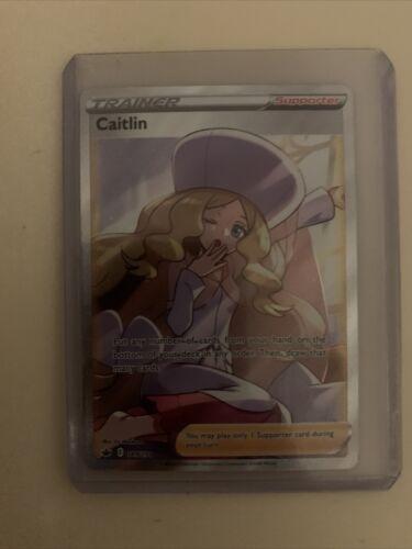 Pokemon TCG Chilling Reign Ultra Rare Full Art NM Trainer Caitlin 189/198