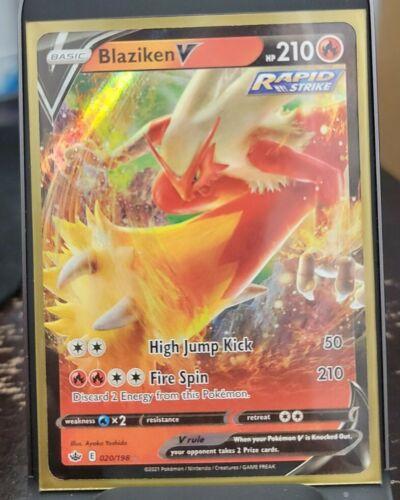 Pokemon TCG: Chilling Reign 020/198 ☆ BLAZIKEN V ☆ Full Art Rare