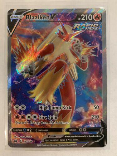 Pokémon Blaziken V Full Art Chilling Reign 161/198 Holo Rare Card Mint