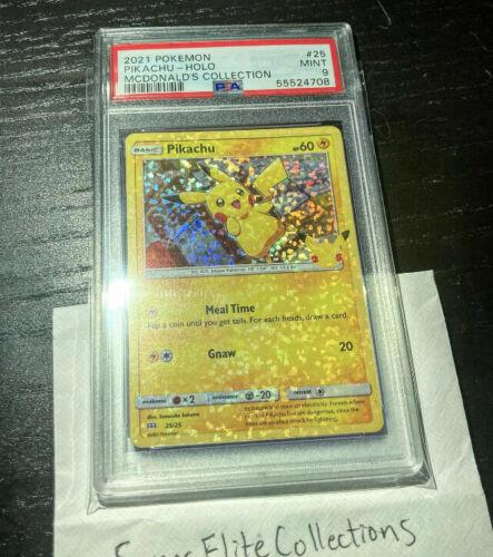 2021 McDonald's Pokémon - Pikachu 25/25 - 1/1 RARE FULL HOLO BLEED ERROR CARD