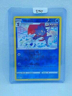 Pokémon TCG Weavile Reverse Holo 031/198   Chilling Reign   Play/Grade Ready