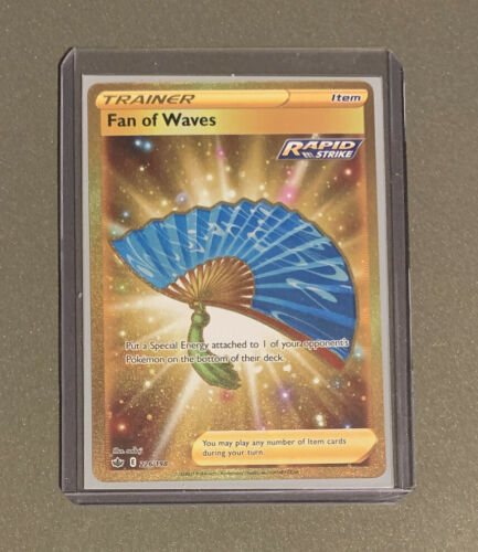 Fan of Waves 226/198 Gold Rare Chilling Reign Pokemon Card Near Mint/Fresh Pull