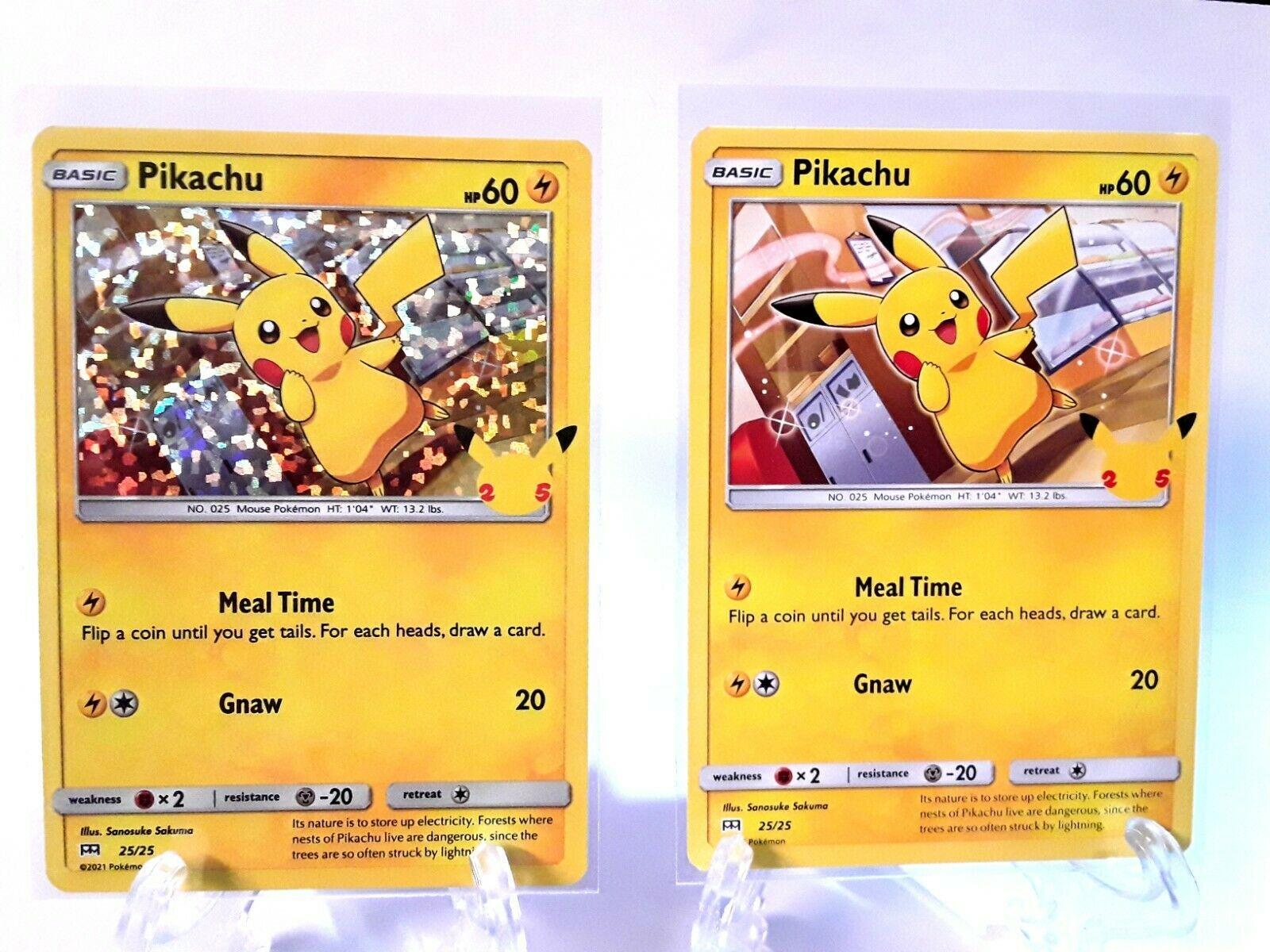 McDonald's 25th Anniversary Pikachu 25/25 Holo + Non Holo Promo Set. Plus Extra!