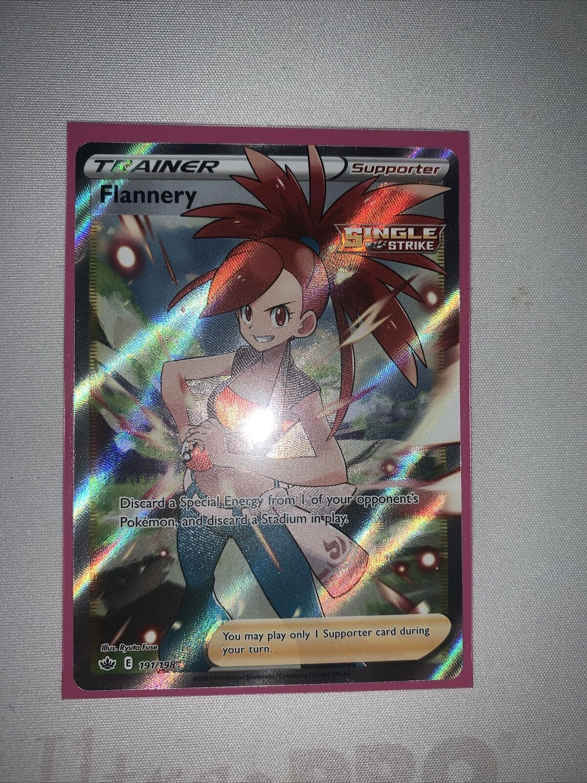 Flannery 191/198 Chilling Reign Pokemon TCG Ultra Rare NM
