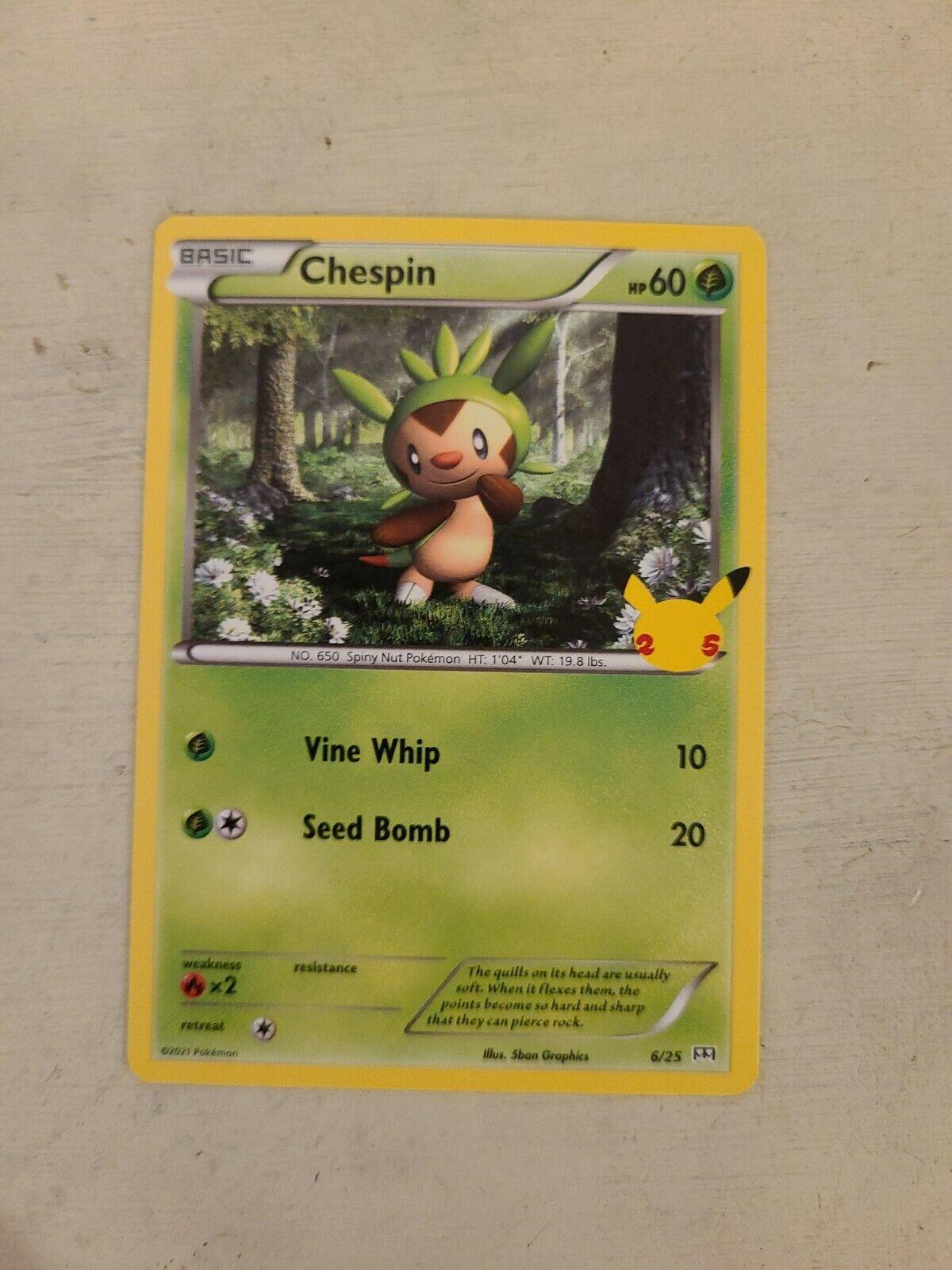 Pokemon Card McDonald's Promo Non-Holo Chespin 6/25