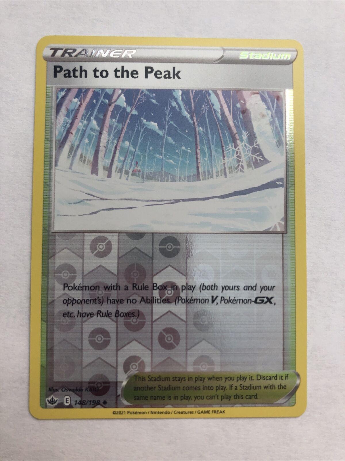 Path to the Peak 148/198 Reverse Holo Pokemon Chilling Reign