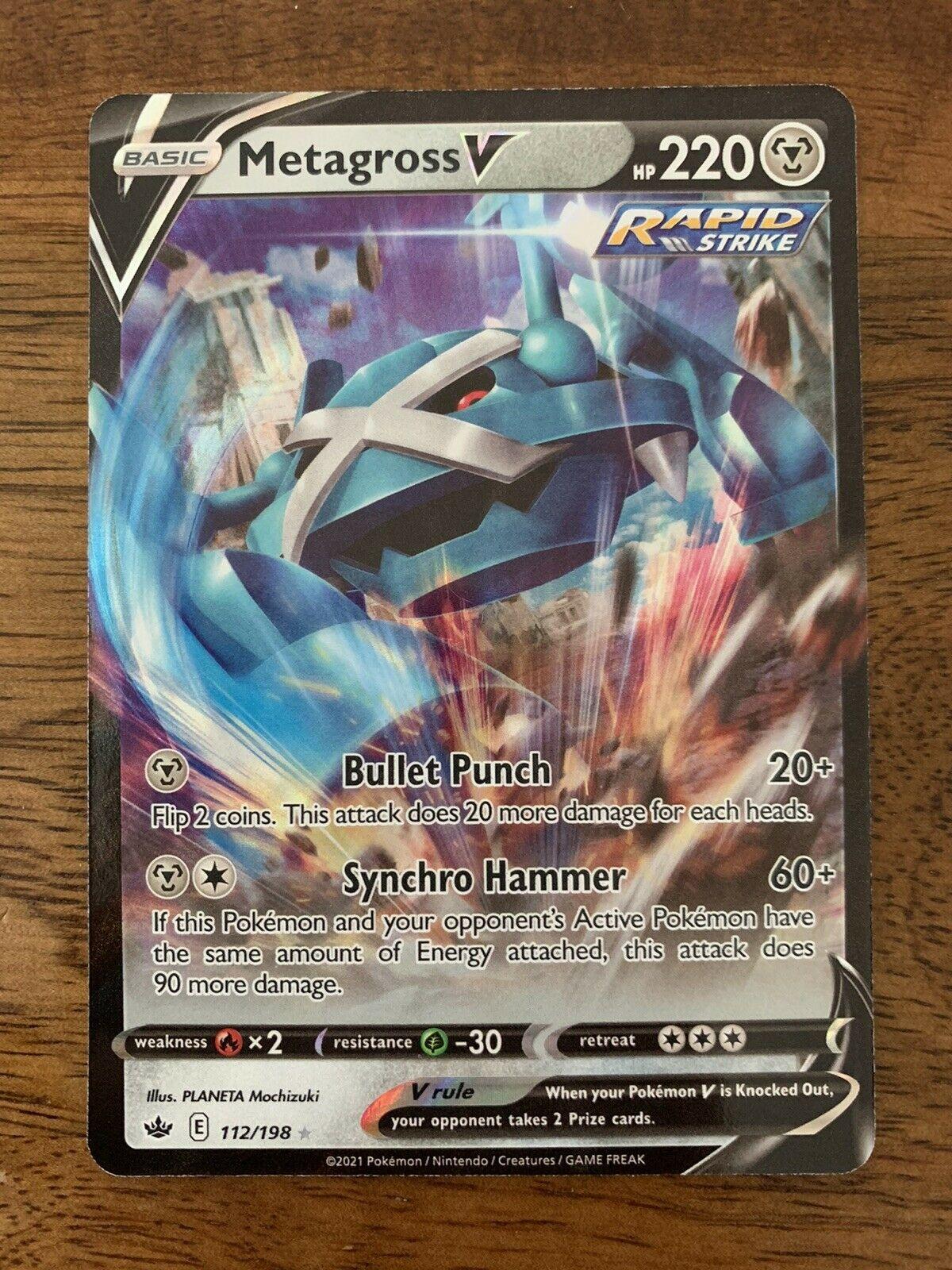Metagross V 112/198 Chilling Reign Full Art Ultra Rare Pokemon Card