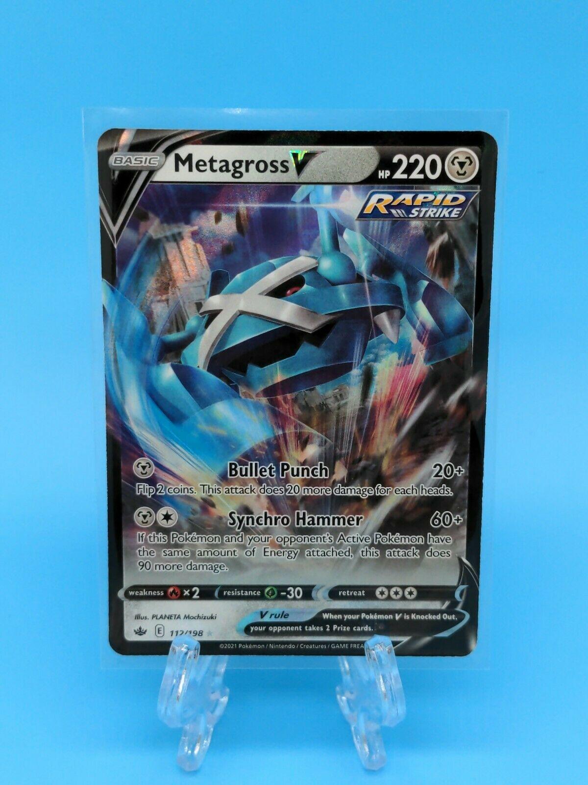 Metagross V 112/198 Ultra Rare Chilling Reign Pokemon TCG Near Mint