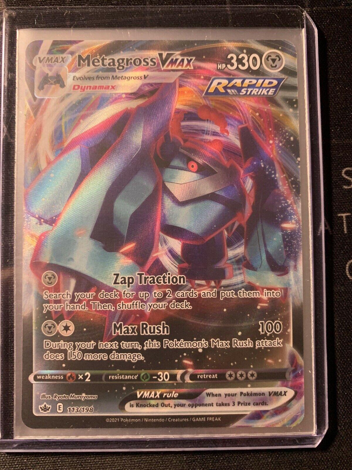 Metagross VMAX 113/198 Ultra Rare Chilling Reign Pokemon NM