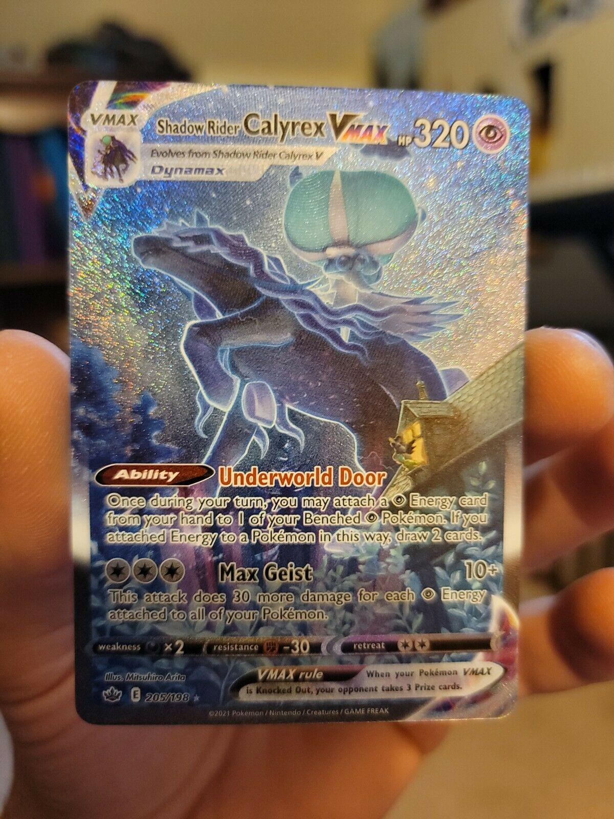 Pokemon Shadow Rider Calyrex VMax (205/198) - Alt Art Chilling Reign GEM MINT