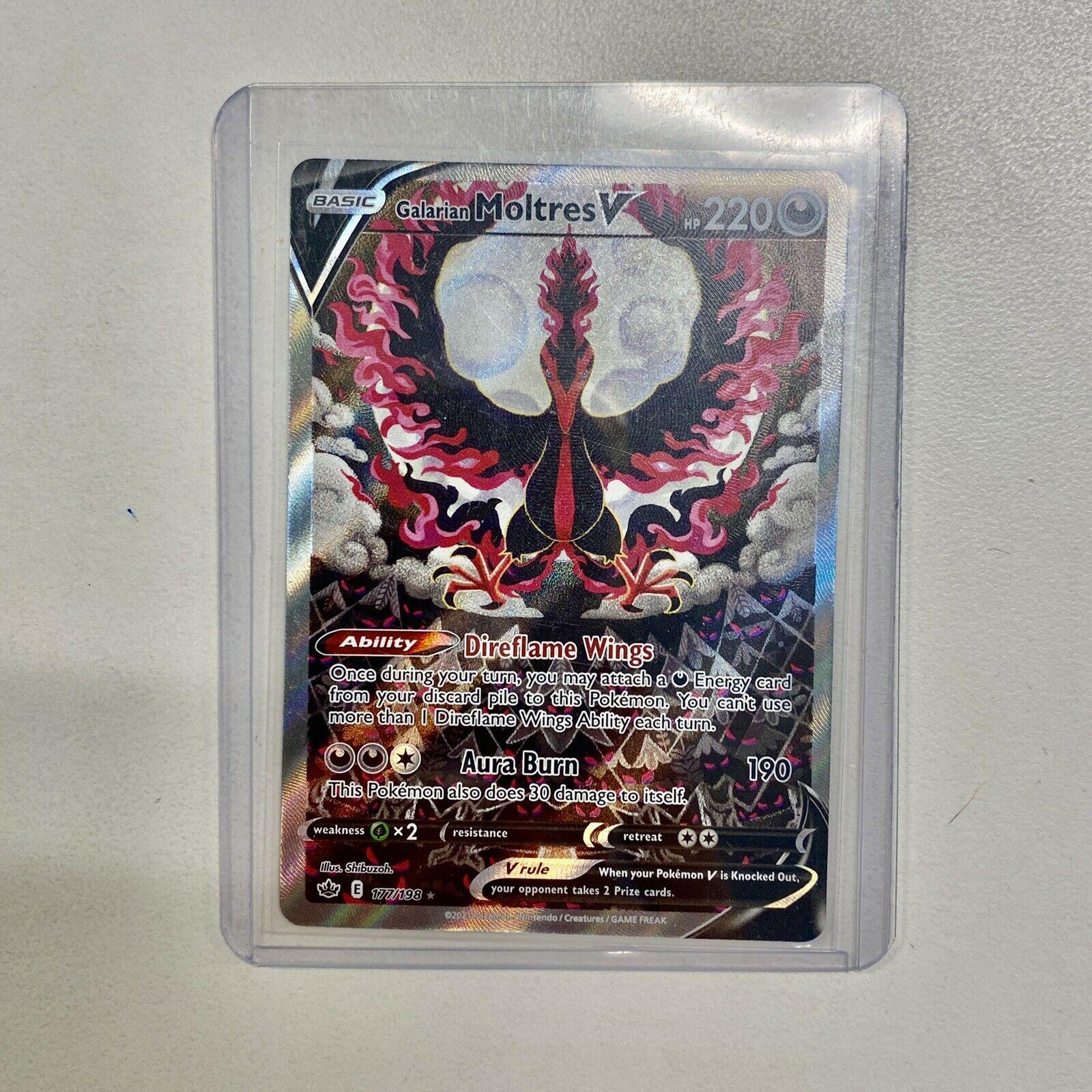 Pokemon TCG - Chilling Reign Galarian Moltres V Alternate Art Card - 177/198