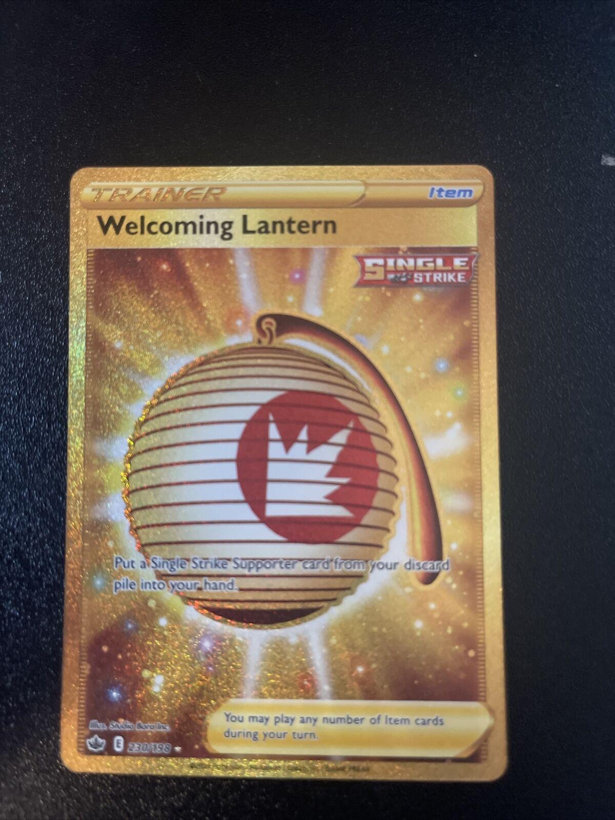 Pokemon Welcoming Lantern 230/198 Gold Secret Rare Chilling Reign