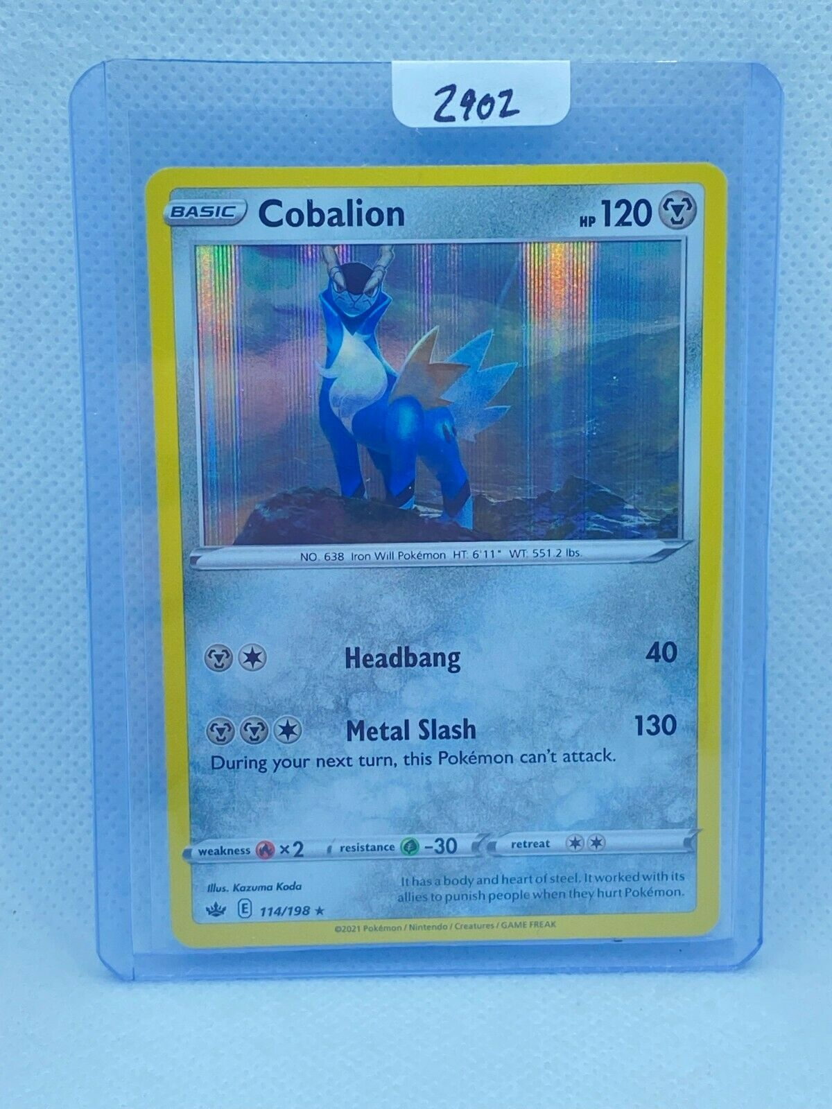 Pokémon TCG Cobalion Holo 114/198 | Chilling Reign | Play/Grade Ready