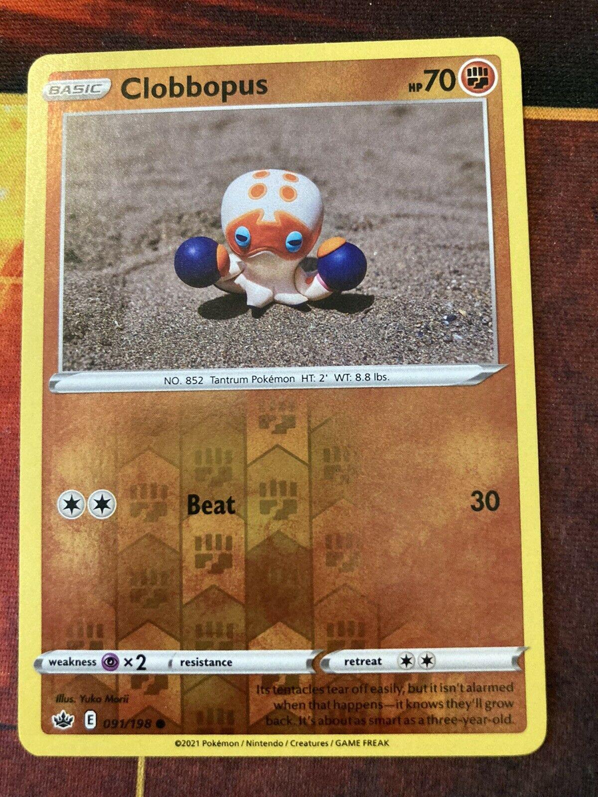 Clobbopus 091/198 - Reverse Holo - Pokemon Chilling Reign - NM
