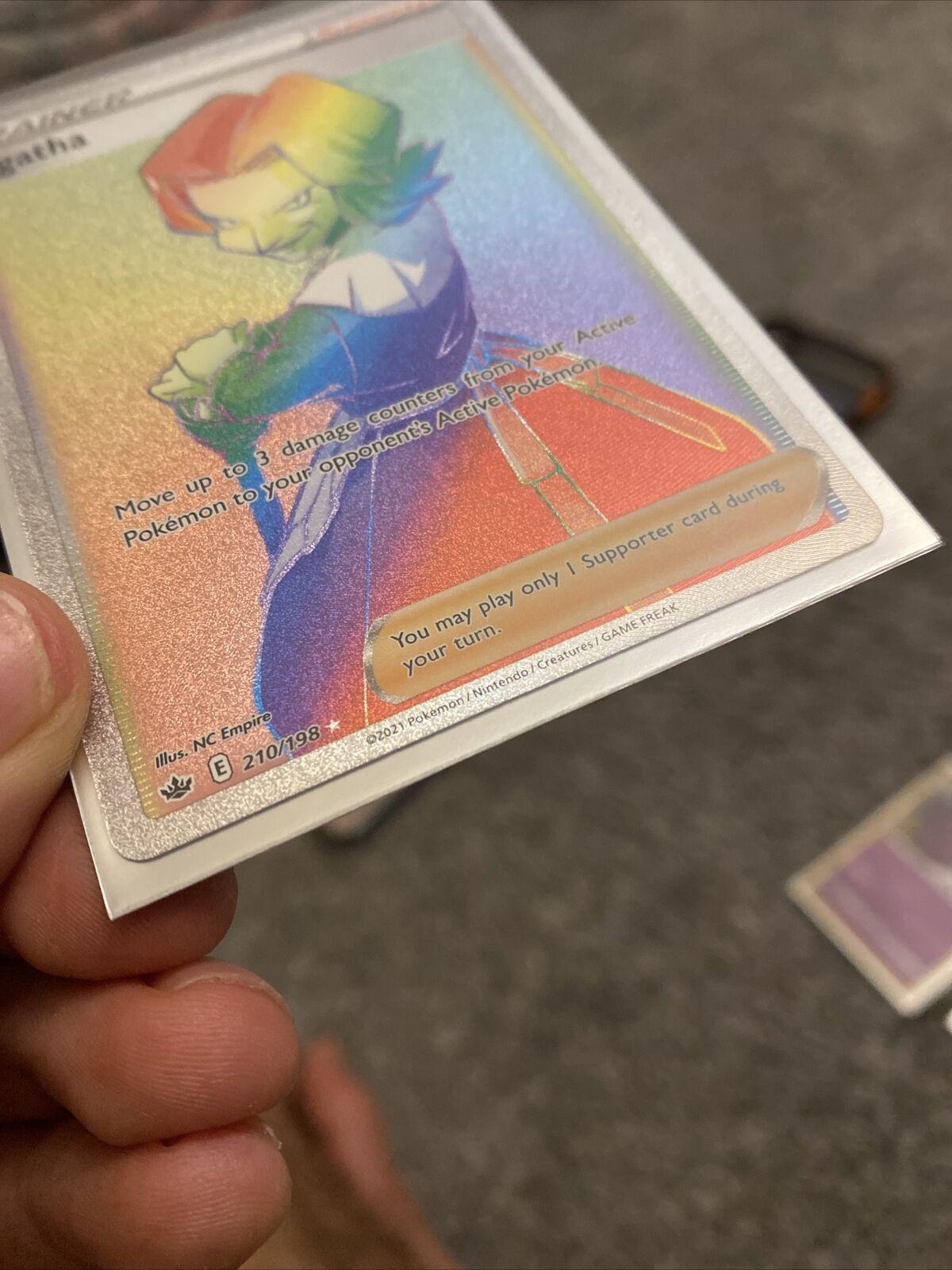 Agatha 210/198 Full Art Secret Rare Rainbow Chilling Reign Pokemon Card