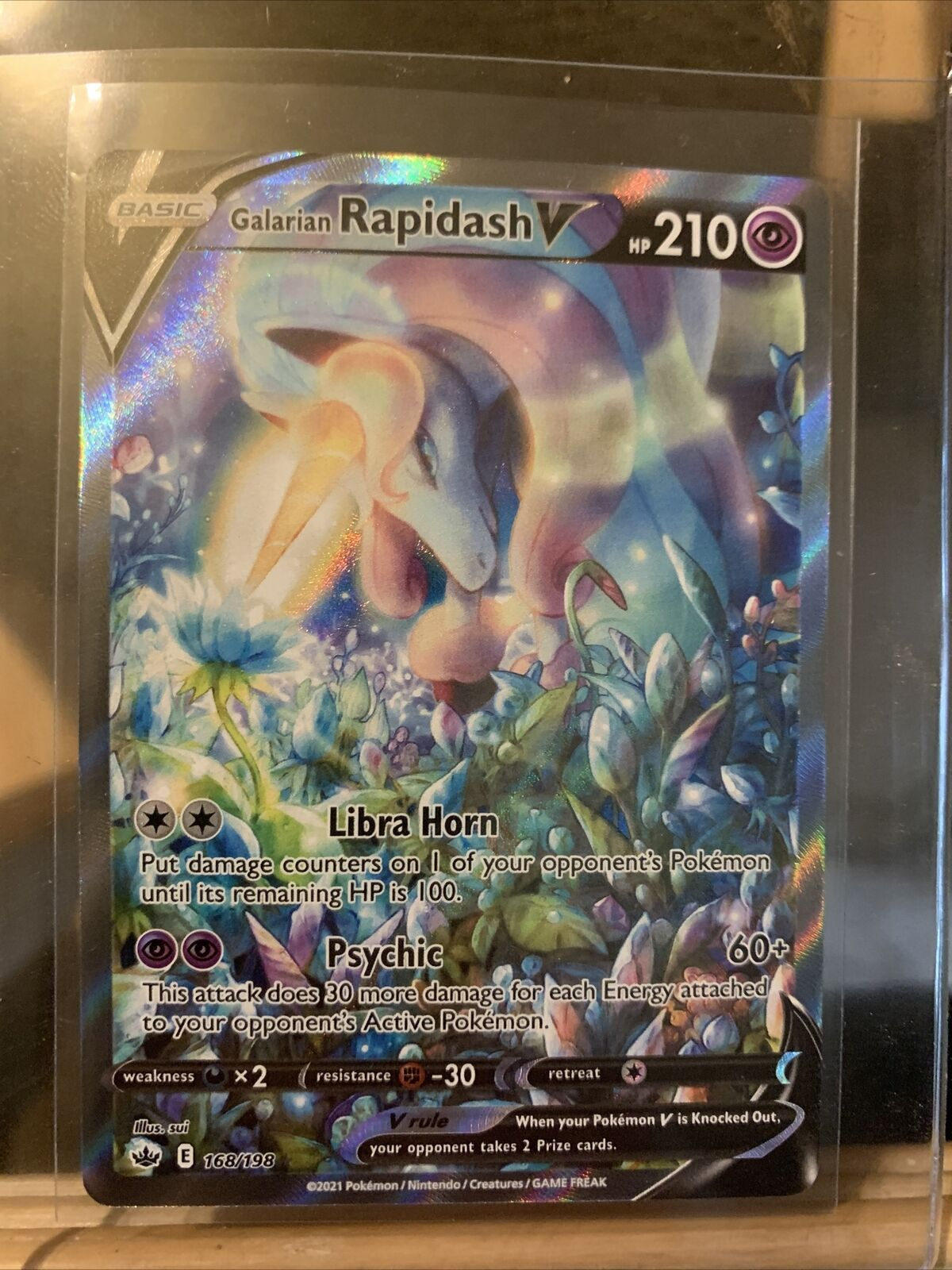 Pokémon Galarian Rapidash V Alternate Art 168/198 Chilling Reign NM/M