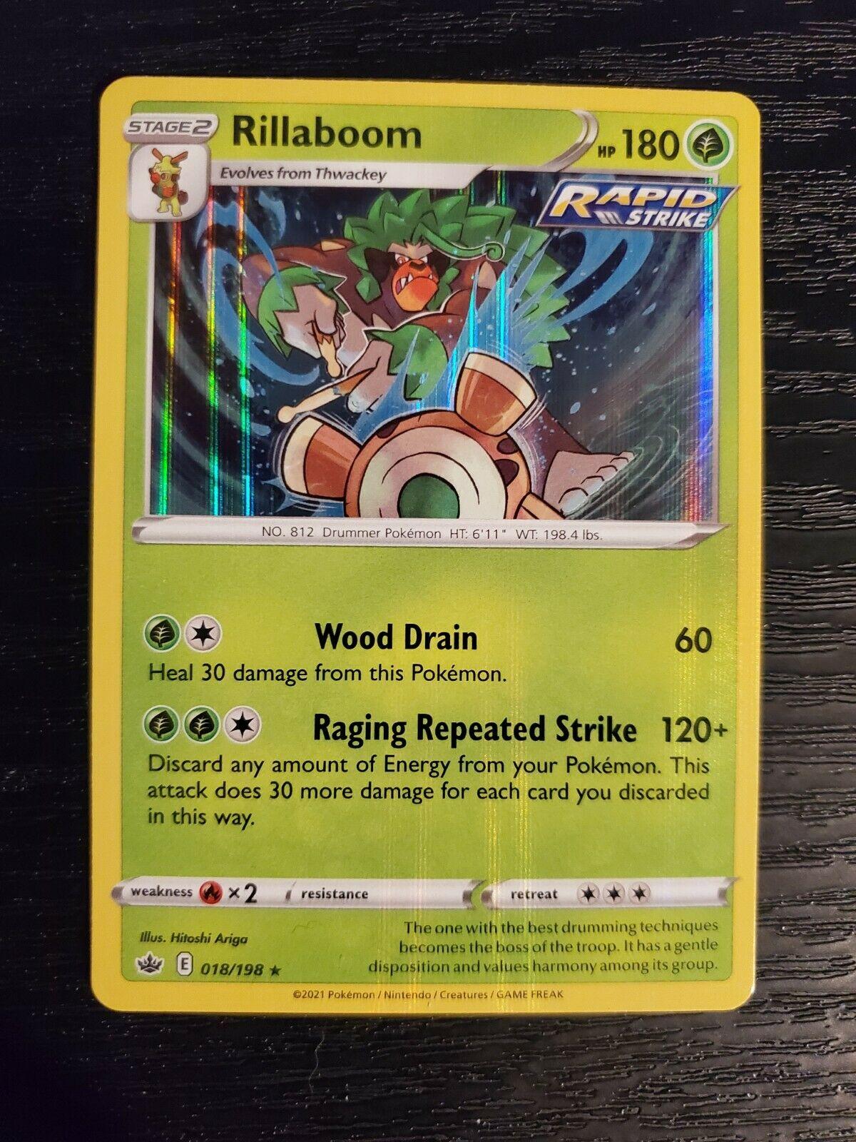 Rillaboom 018/198 Chilling Reign Holo Rare Pokemon Card NM