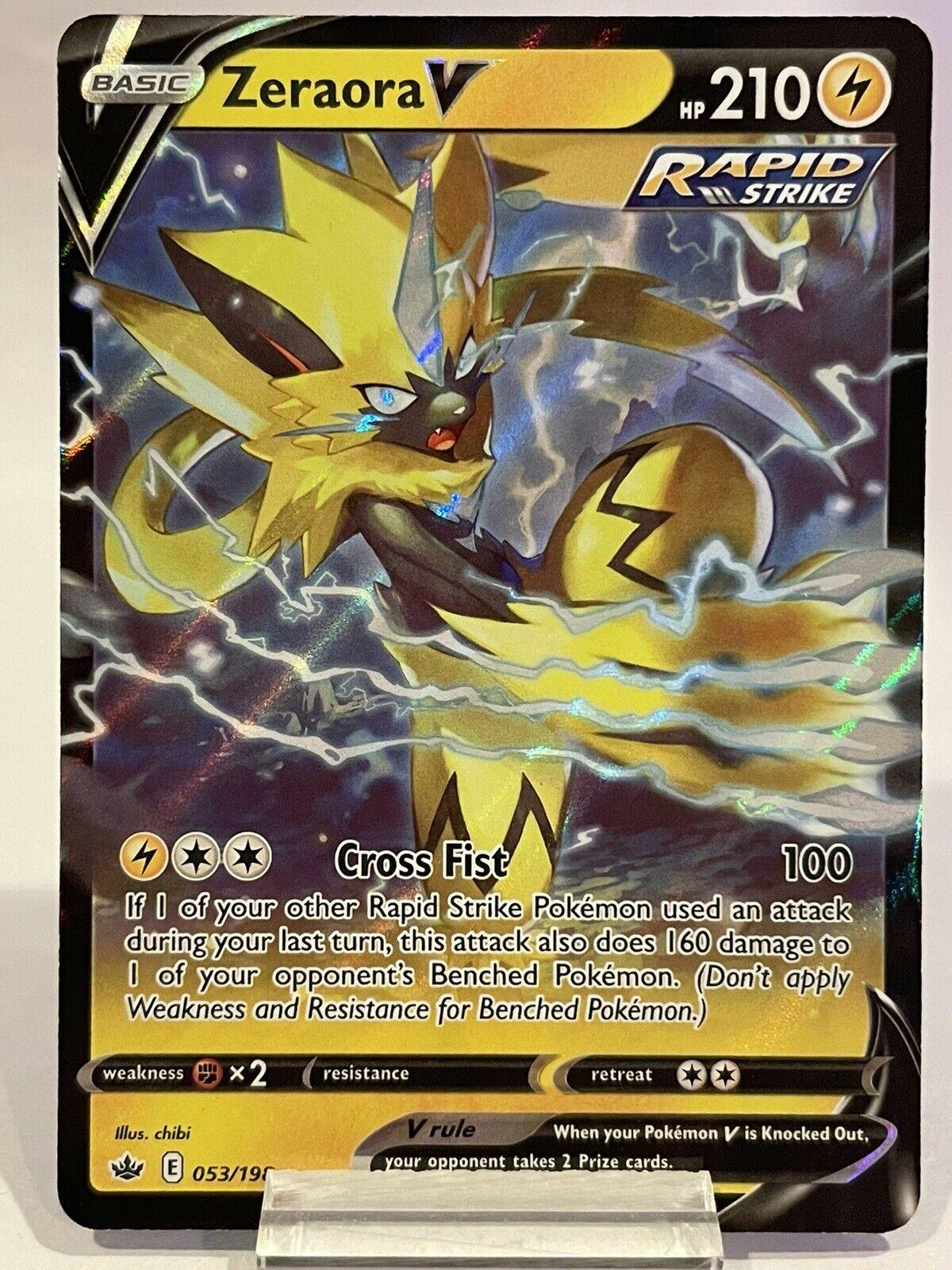 Zeraora V 053/198 Ultra Rare Holo Pokémon Chilling Reign Pokemon NM
