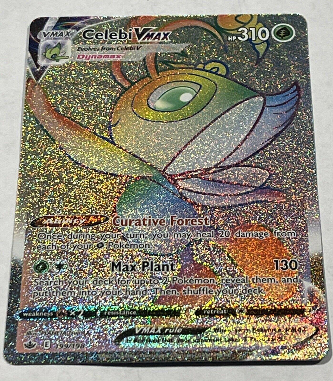 Celebi Vmax 199/198 Rainbow Secret Rare Chilling Reign