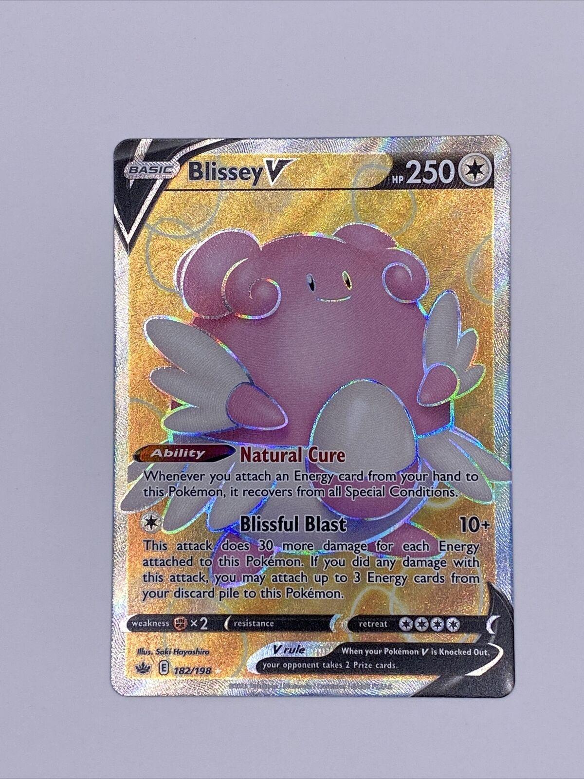 Blissey V 182/198 Mint Chilling Reign Full Art Rare Holo Pokemon Card