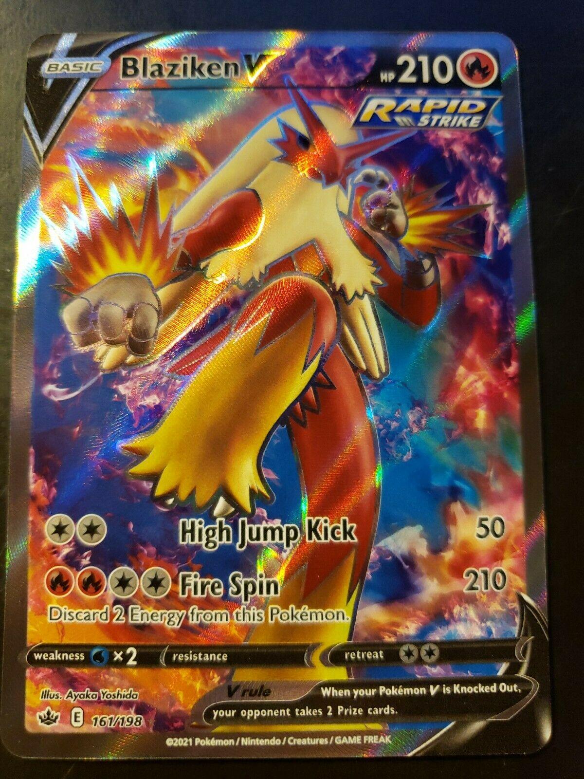 Pokemon TCG Chilling Reign Blaziken V Full Art 161/198 NM
