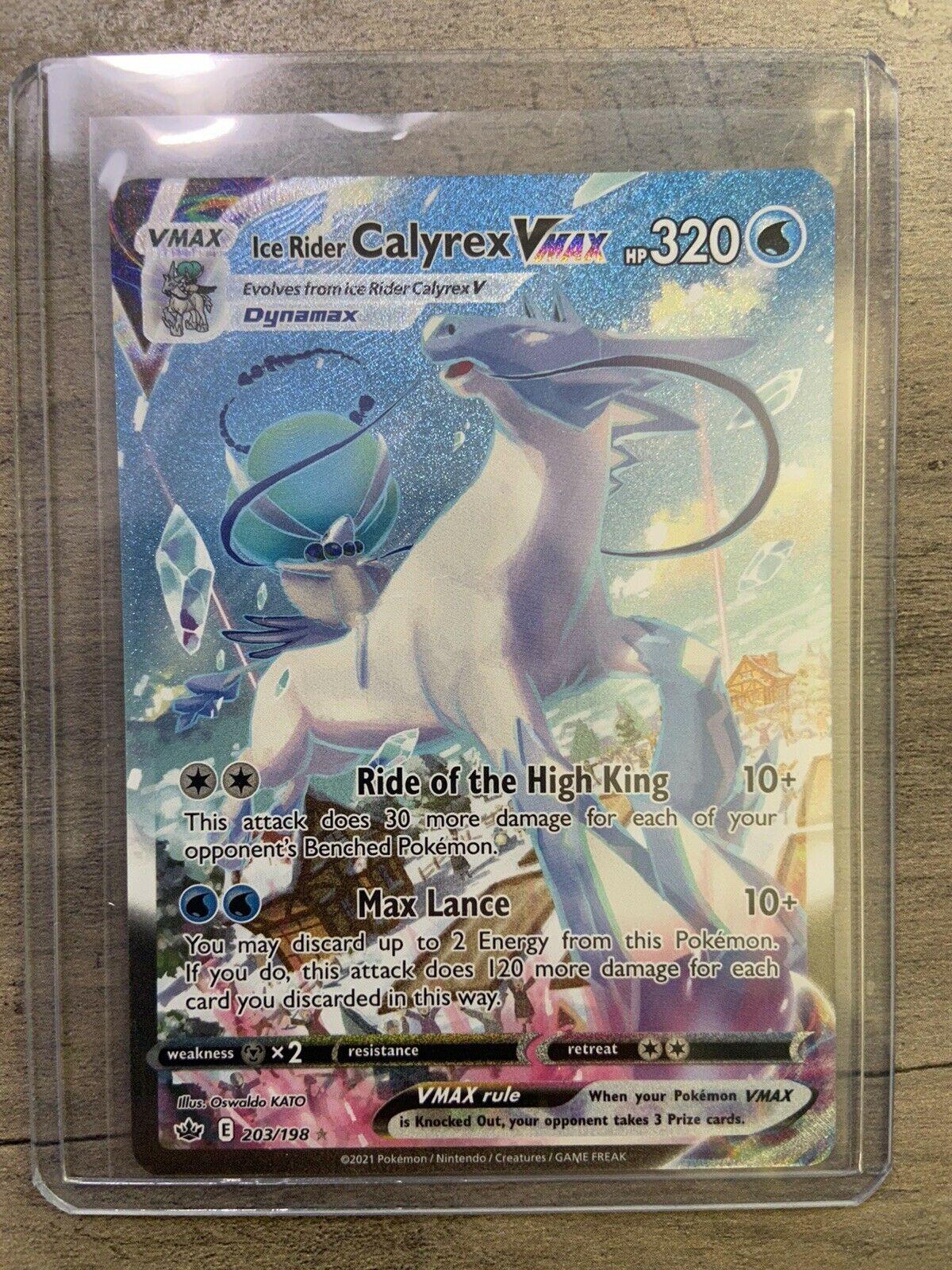 Ice Rider Calyrex VMAX 203/198 Pokemon Alternate Art Secret Rare Chilling Reign