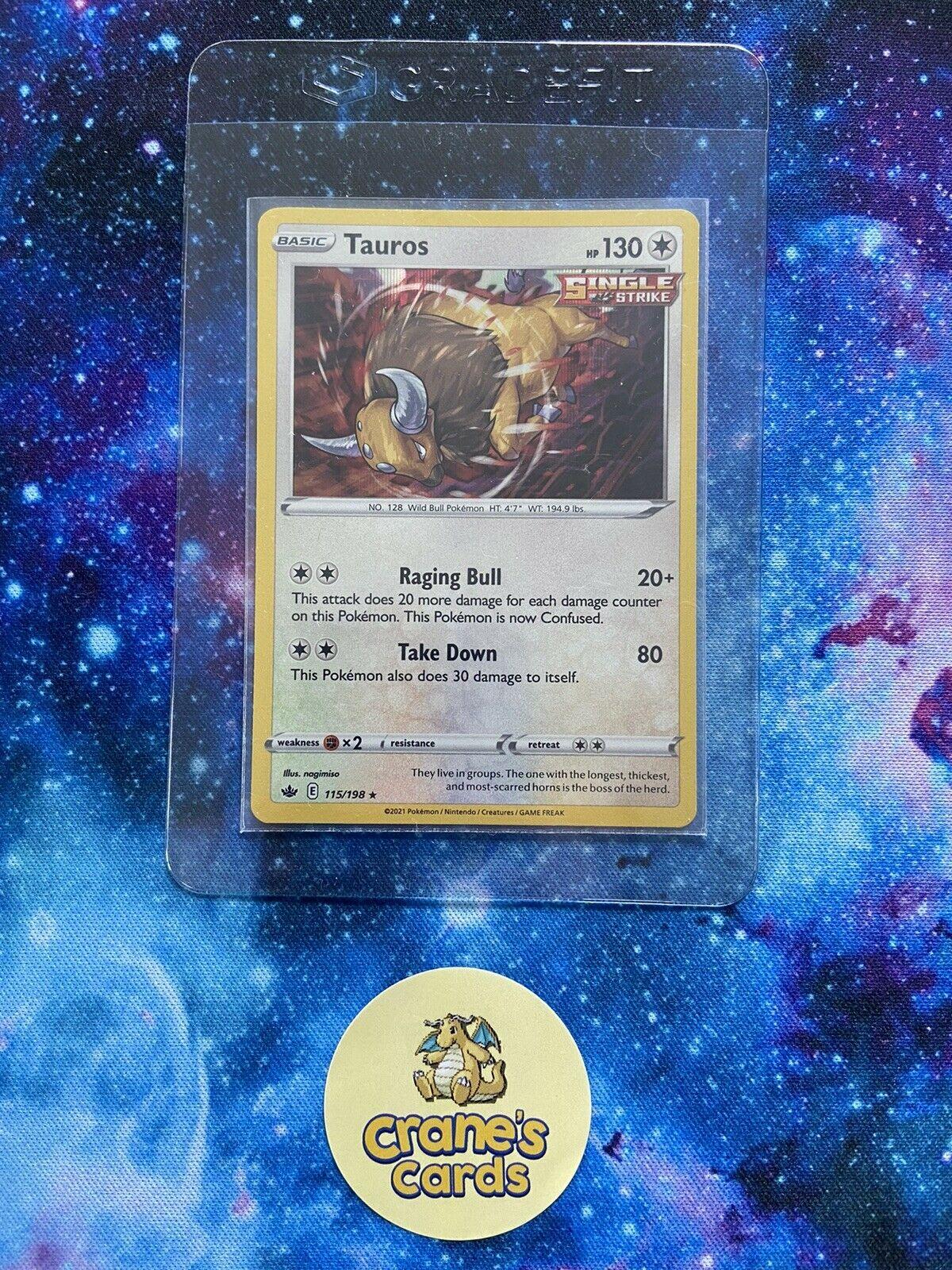 Tauros Holo Rare 115/198 SWSH Chilling Reign Mint Pokemon Card - Image 3