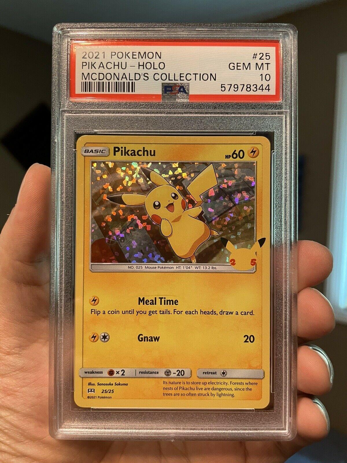 2021 Pokemon McDonald's Collection Promo Pikachu Holo PSA 10 Gem Mint - 25/25