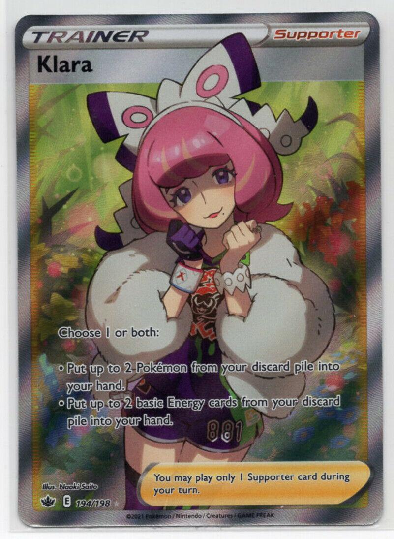 Pokemon TCG: Chilling Reign *FOIL* Klara (194/198) *Full Art*