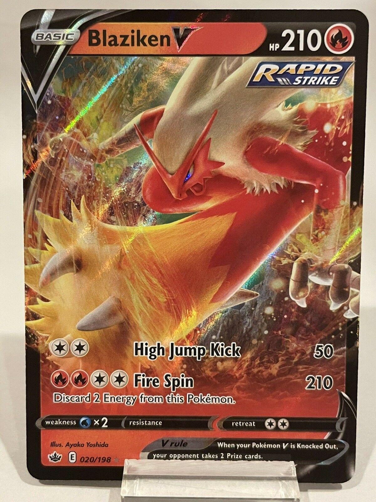 Blaziken V 020/198 Ultra Rare Holo Pokémon Chilling Reign NM