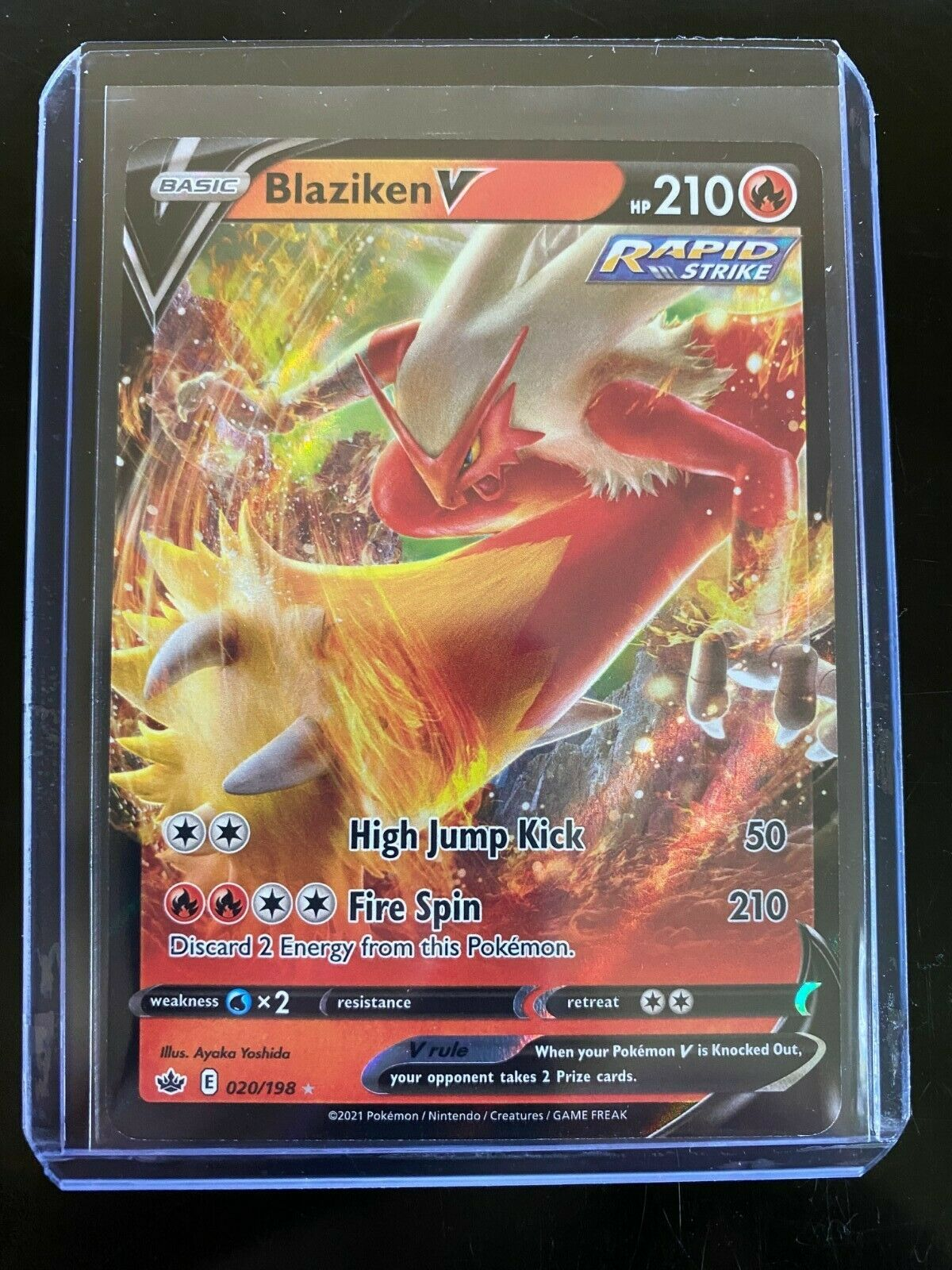 Pokemon TCG - Chilling Reign - Blaziken V Rare Holo 020/198