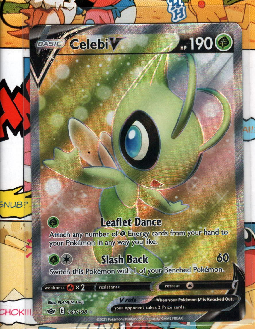Pokemon TCG Celebi V - 160/198 - Chilling Reign - NM/M