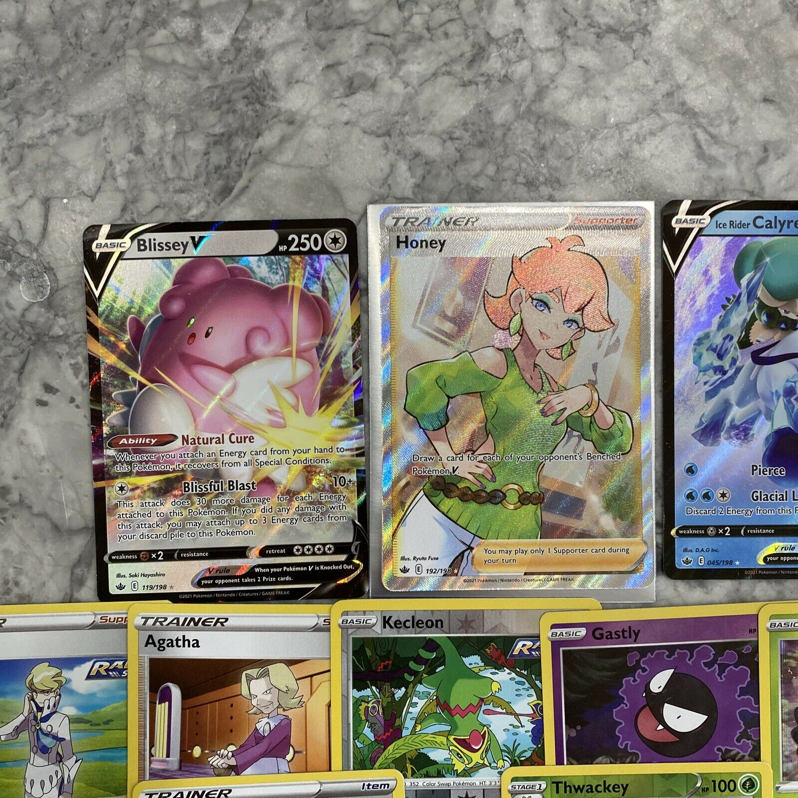 Honey 192/198 Full Art Ultra Rare Chilling Reign M/NM with 12 more cards!