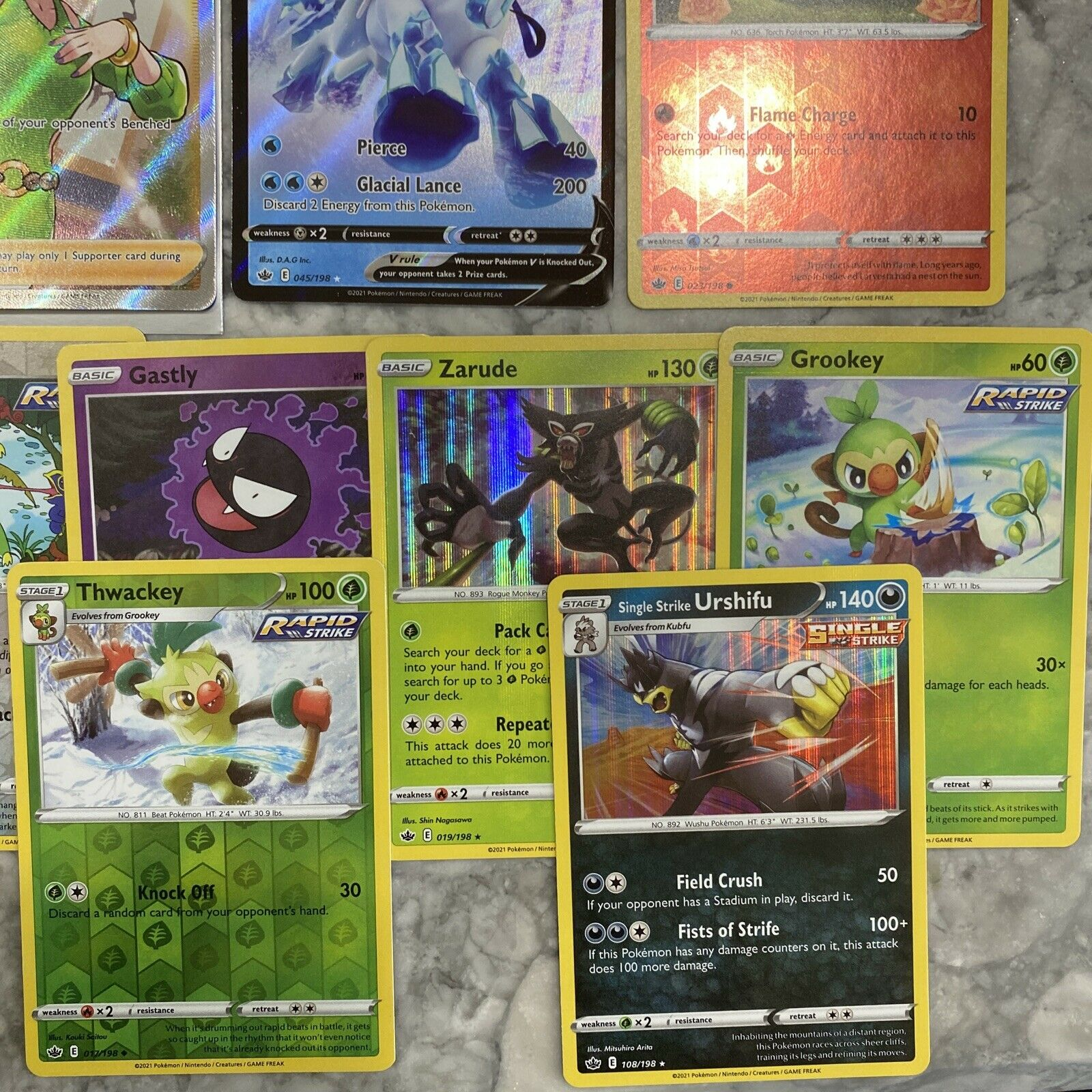 Honey 192/198 Full Art Ultra Rare Chilling Reign M/NM with 12 more cards! - Image 4