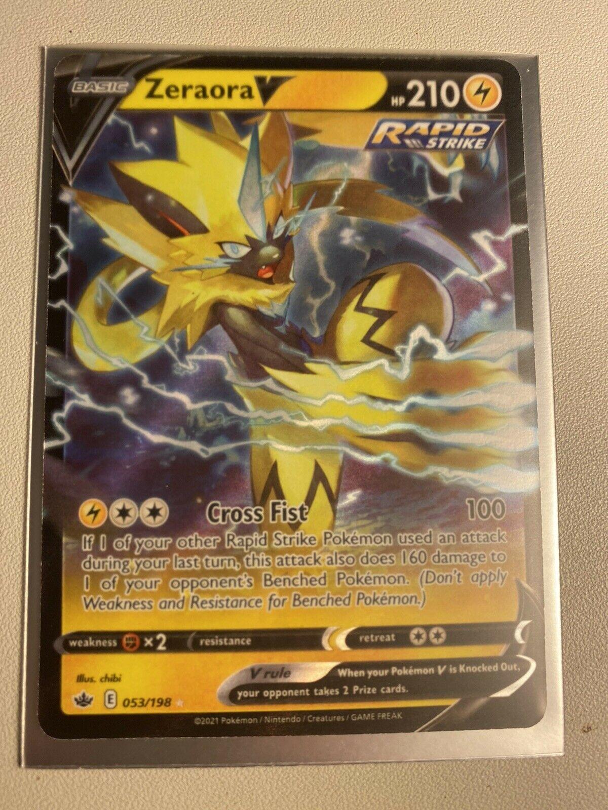 Zeraora V 053/198 Ultra Rare Chilling Reign Pokemon Card NM/M