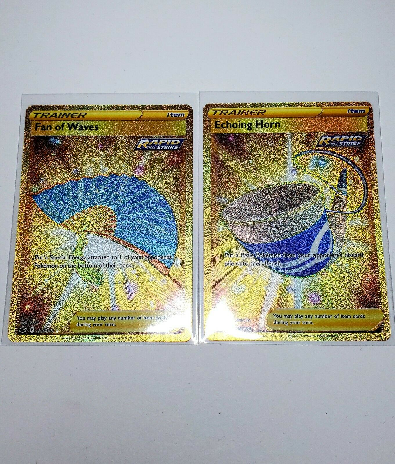 Pokemon Chilling Reign Echoing Horn Fan of Waves SecretRare Gold 225/198 226/198